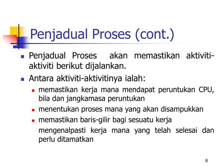 Penjadual Proses (cont.)