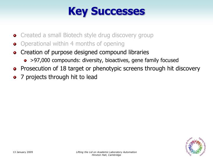 Key Successes