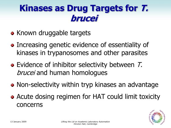 Kinases as Drug Targets for