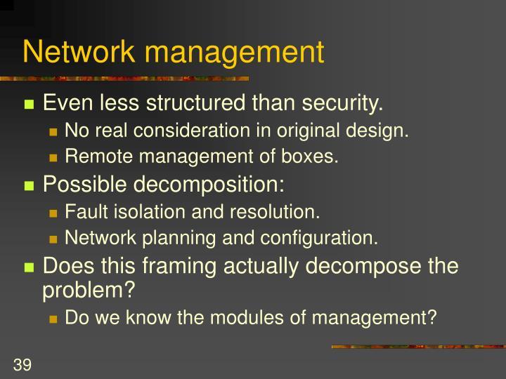 Network management