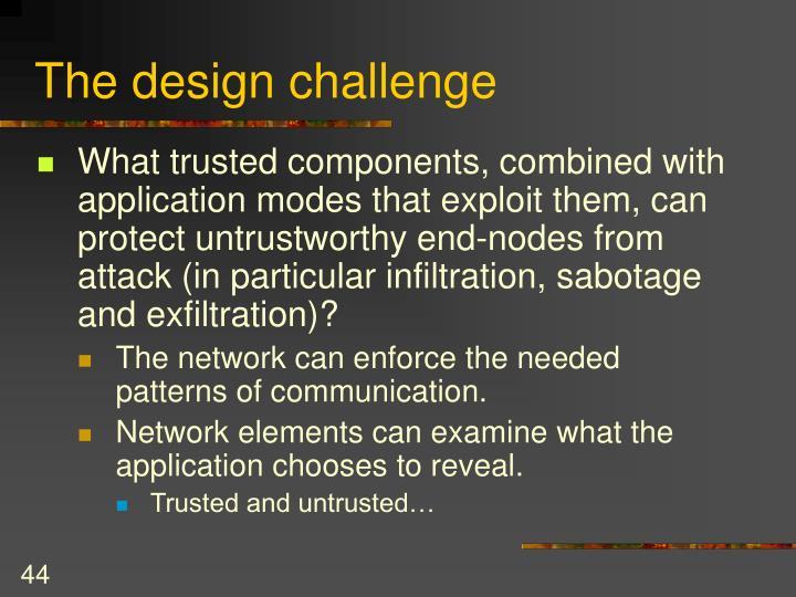 The design challenge