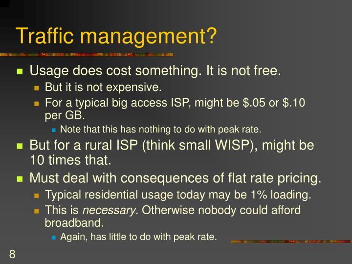 Traffic management?