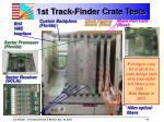 1st track finder crate tests