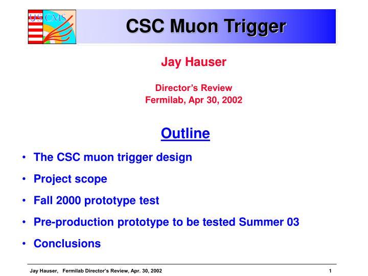 CSC Muon Trigger