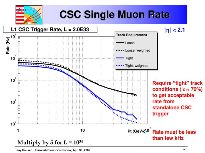 CSC Single Muon Rate