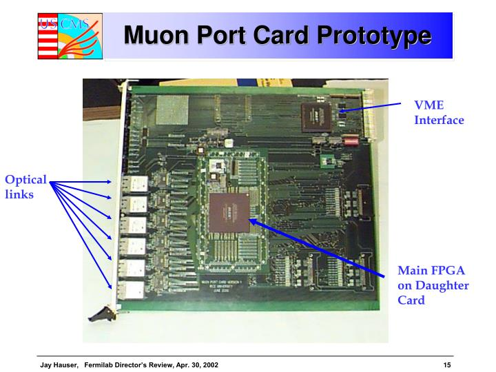Muon Port Card Prototype