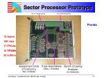 sector processor prototype