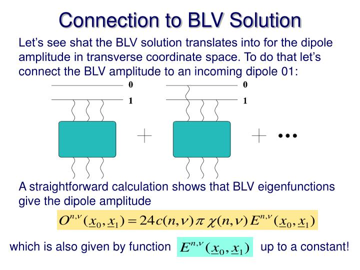 Connection to BLV Solution
