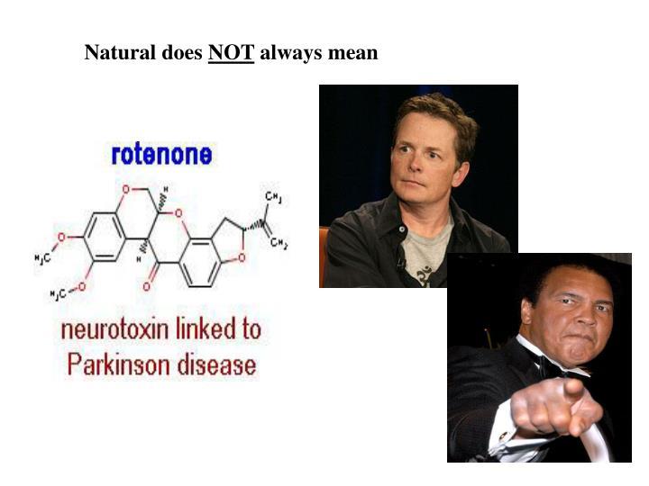 Natural does