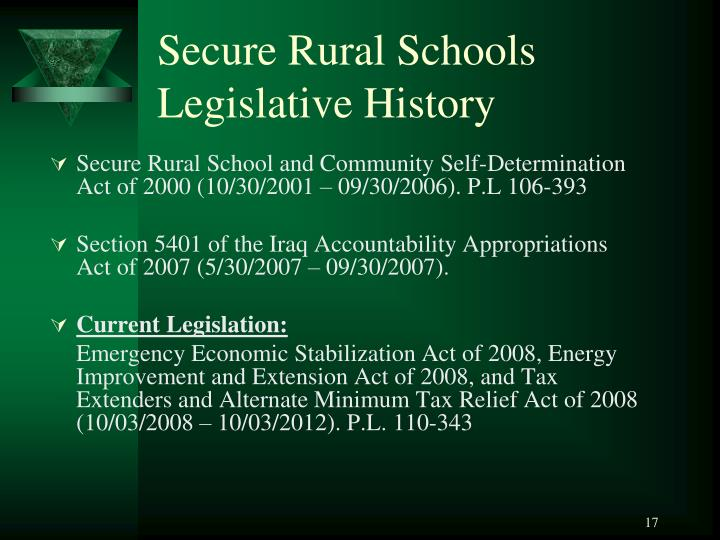 Secure Rural Schools