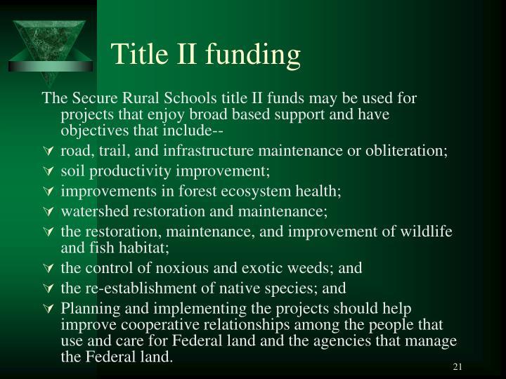 Title II funding
