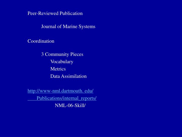 Peer-Reviewed Publication
