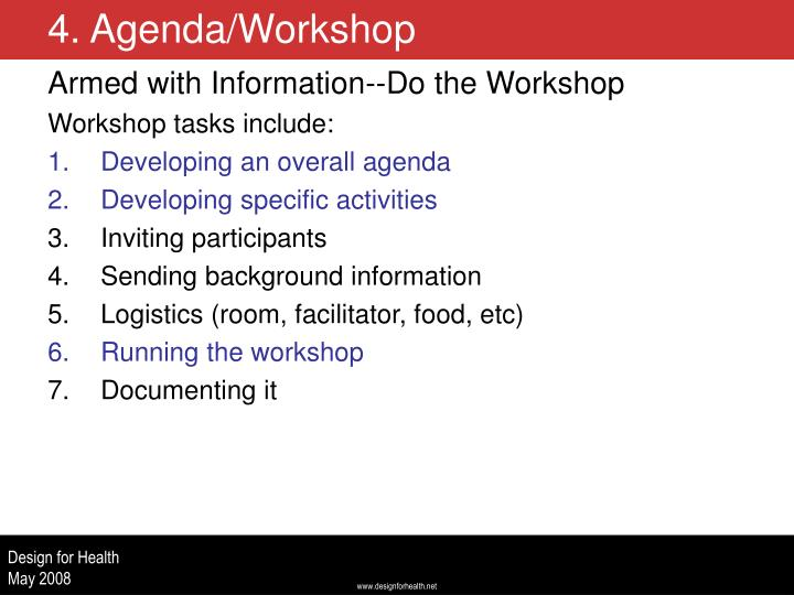 Armed with Information--Do the Workshop