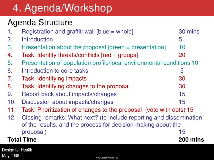 Agenda Structure