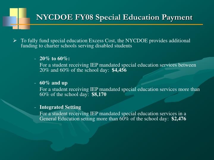 NYCDOE FY08 Special Education Payment