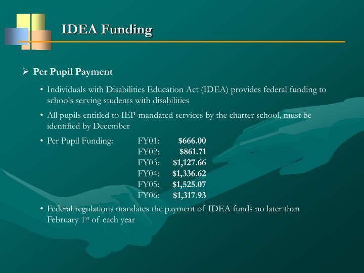 IDEA Funding