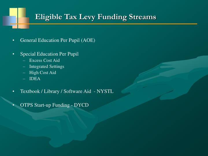 Eligible Tax Levy Funding Streams