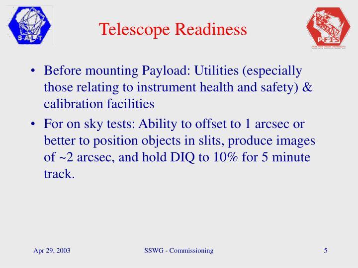 Telescope Readiness