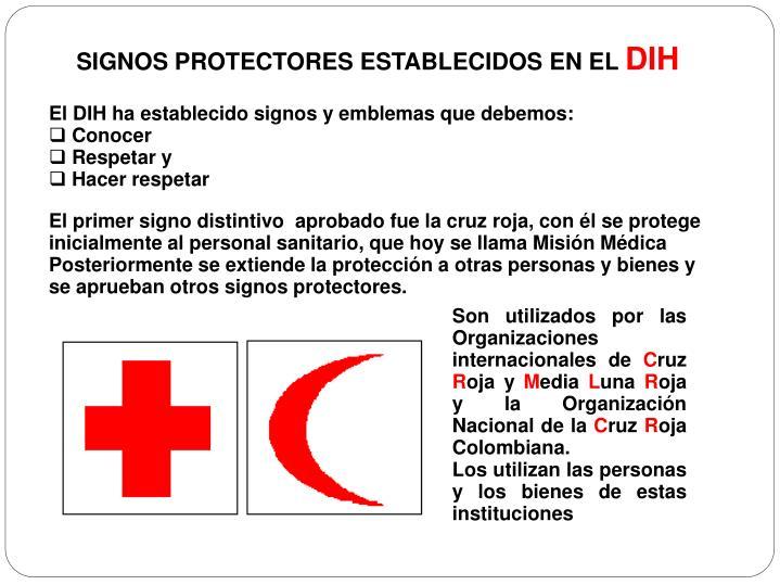 SIGNOS PROTECTORES ESTABLECIDOS EN EL