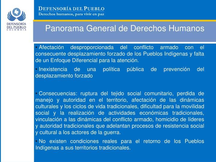 Panorama General de Derechos Humanos