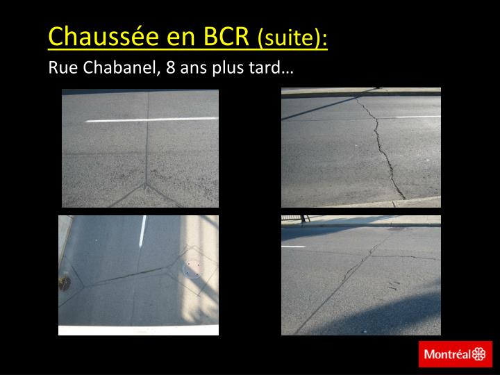 Chaussée en BCR