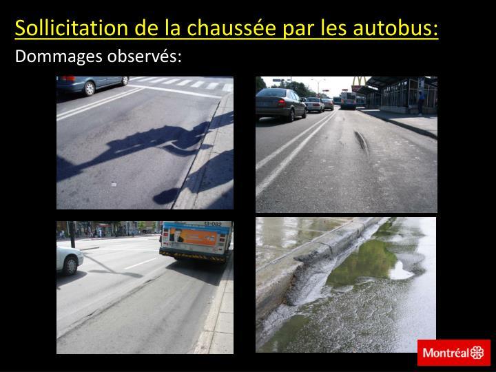 Sollicitation de la chaussée par les autobus: