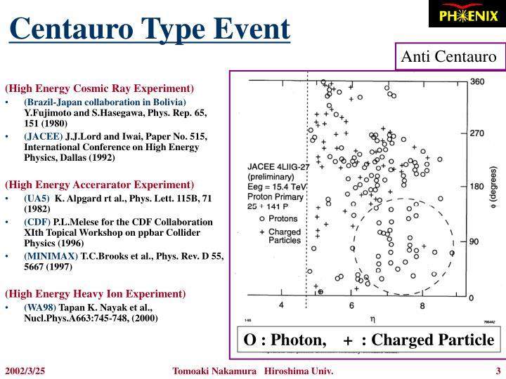Centauro Type Event