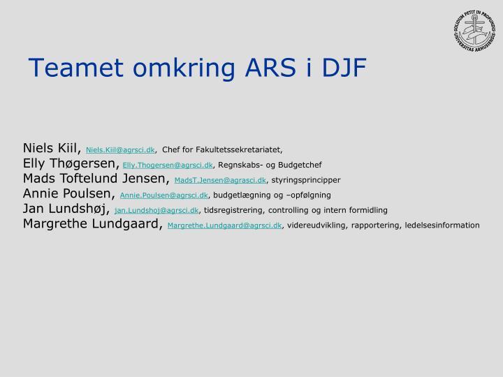 Teamet omkring ARS i DJF
