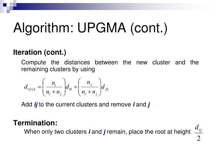 Algorithm: UPGMA (cont.)