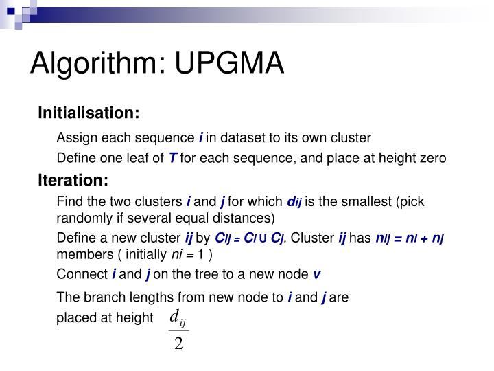 Algorithm: UPGMA