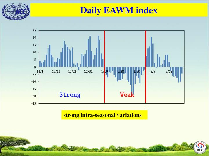 Daily EAWM index