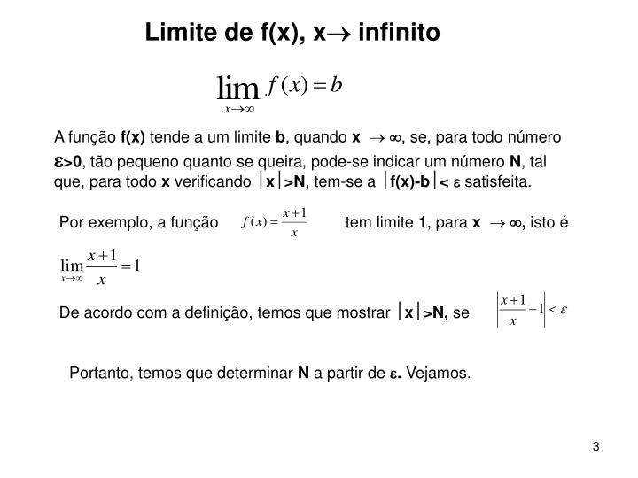 Limite de f(x), x