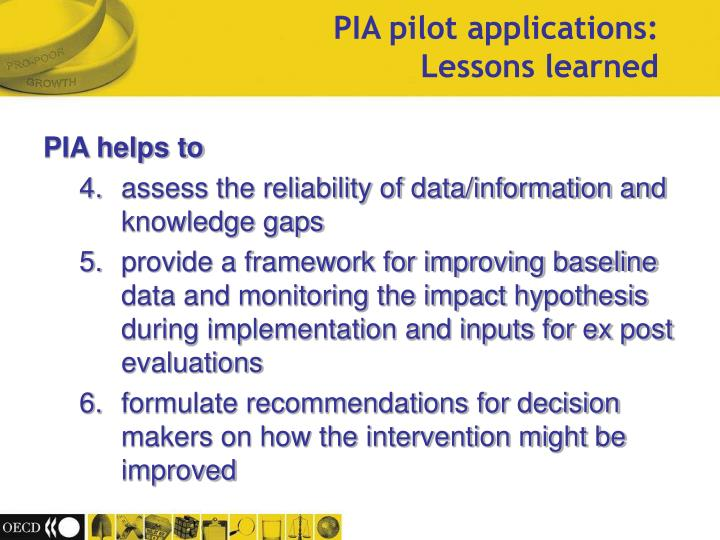 PIA helps to