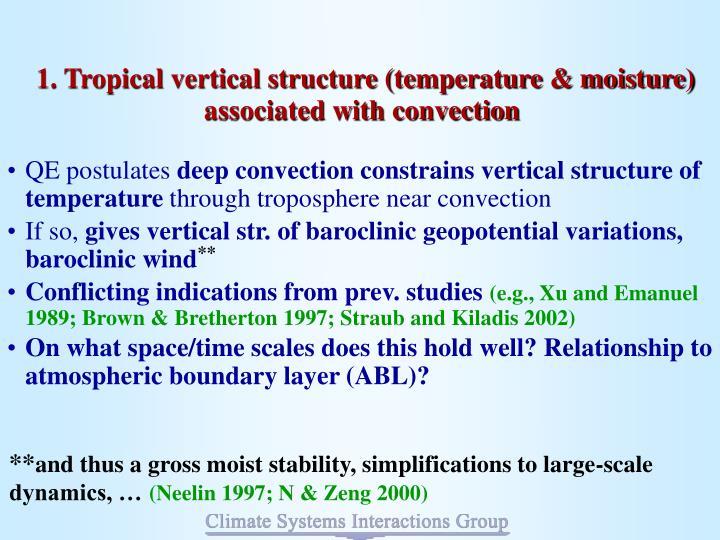 1. Tropical vertical structure (temperature & moisture)