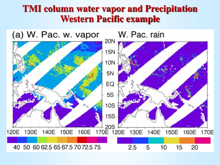 TMI column water vapor and Precipitation