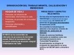 erradicaci n del trabajo infantil callejizaci n y mendicidad5