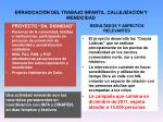 erradicaci n del trabajo infantil callejizaci n y mendicidad6