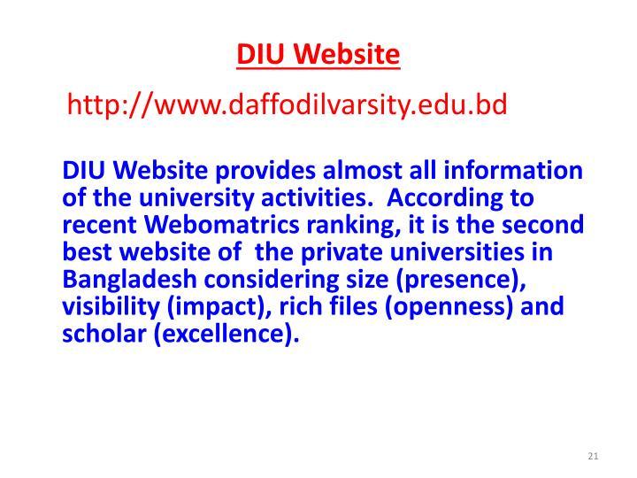 DIU Website