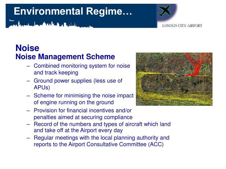 Noise Management Scheme