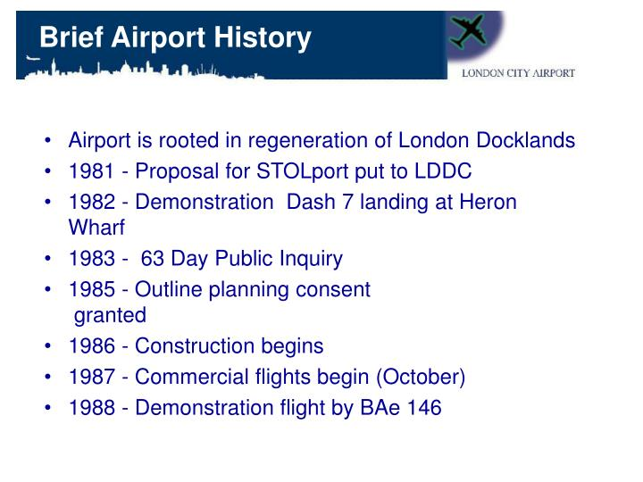Brief Airport History