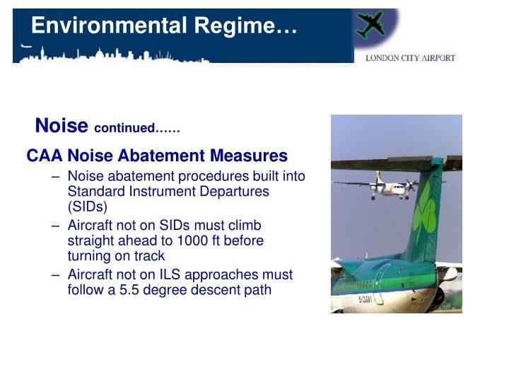 CAA Noise Abatement Measures