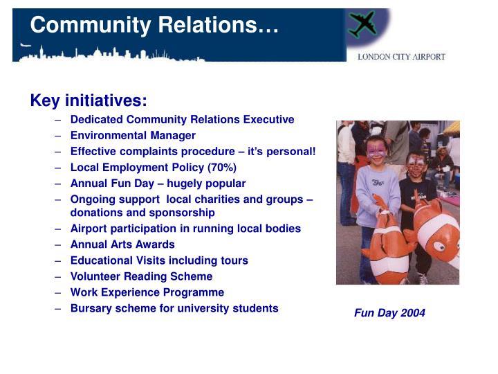 Key initiatives: