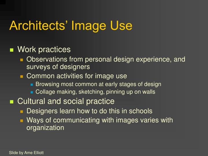 Architects' Image Use