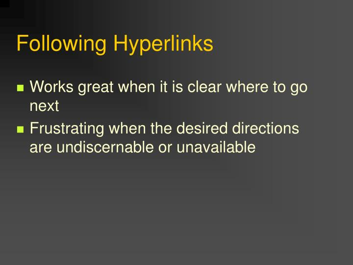 Following Hyperlinks