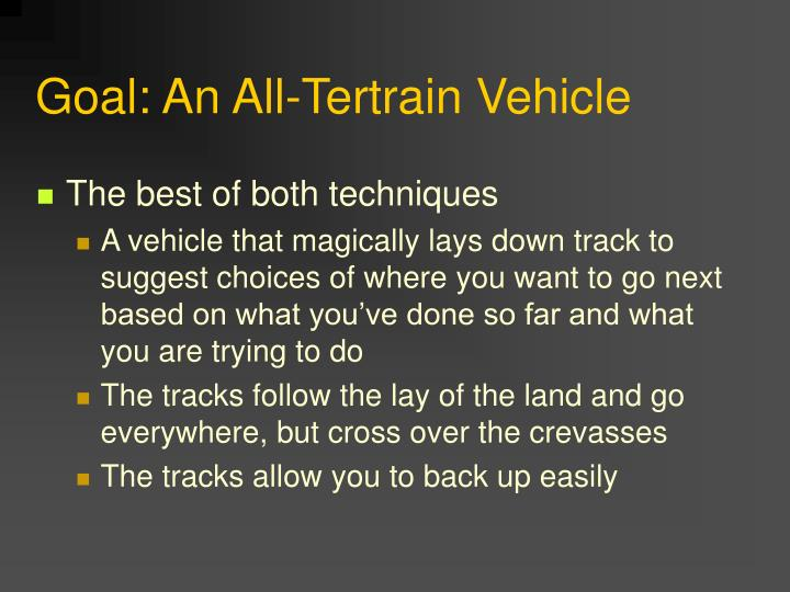 Goal: An All-Tertrain Vehicle
