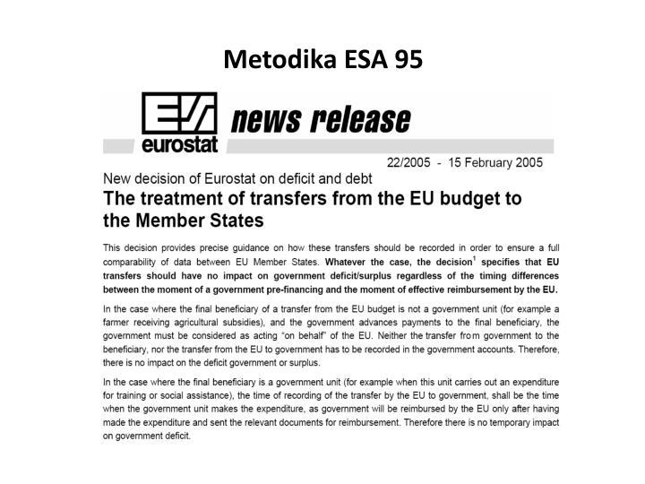 Metodika ESA 95