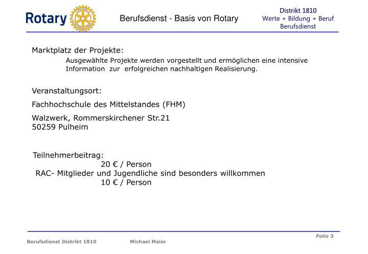 Berufsdienst - Basis von Rotary