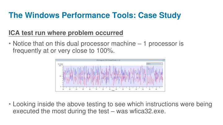 The Windows Performance Tools: Case Study