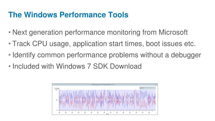 The Windows Performance Tools