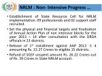 nrlm non intensive progress